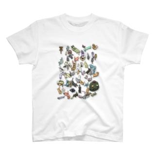 ねこだらけT T-shirts