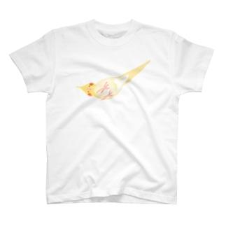 オカメインコ定点観測の下からオカメインコ ルチノー T-shirts