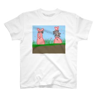畑うさぎん T-shirts