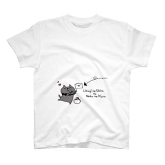 ねこのくろレターTシャツ T-shirts