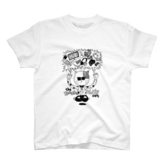 リモートワークを曲解した猫 T-Shirt