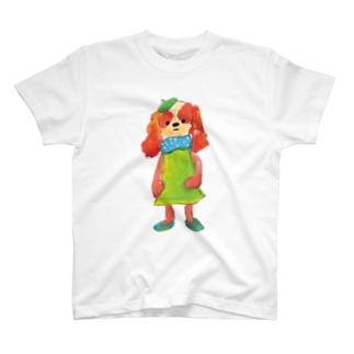 COULEUR PECOE(クルールペコ)  のわんこびとさん/クルミ T-shirts