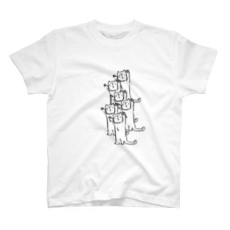 バンザイ猫たち T-shirts