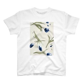 青色チューリップ T-shirts