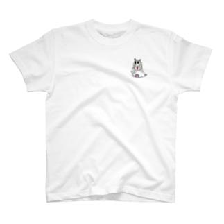 ねこ(文字無し)初期型 T-shirts