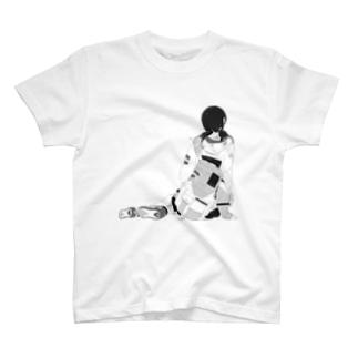 牛すじそば(白黒版) T-shirts