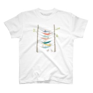 ハンモックキャンプしてるトウネンに混ざるヘラシギ   T-shirts