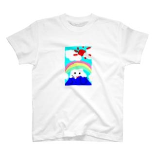 子供が描いた富士山 T-shirts