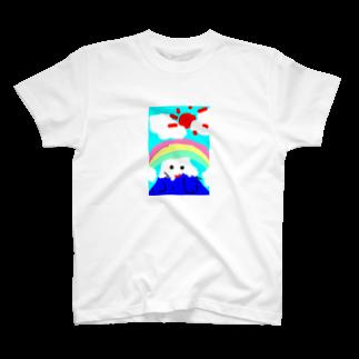 明白の子供が描いた富士山 T-shirts