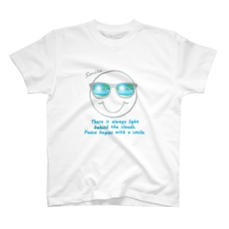 サングラス×スマイル🕶(グレー) T-shirts