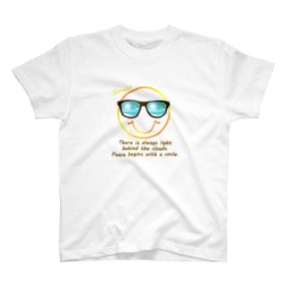 サングラス×スマイル🕶(オレンジ) T-shirts