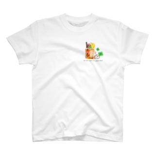 うさぎとひんやりドリンク T-shirts