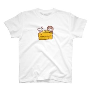 チーズとネズミとハリネズミ T-shirts