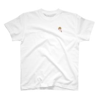 面長麦わらさん T-shirts