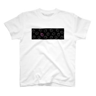 ねぼけまねこ(ぴんく) T-shirts