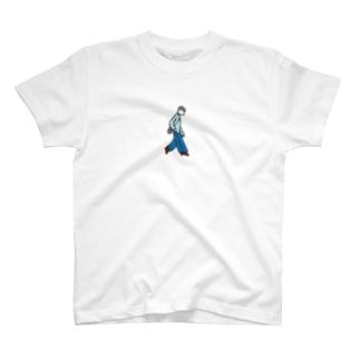 ポケットに手を入れると危ない T-shirts