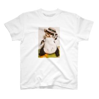 ねこのおっちゃん・ごきげんよう T-shirts