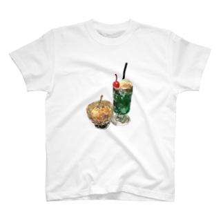 クリームソーダとアイスクリーム T-shirts