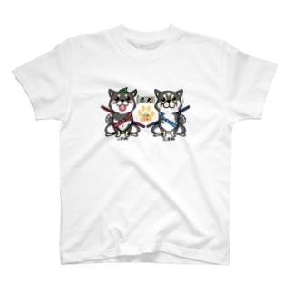 忍犬にまこま T-shirts