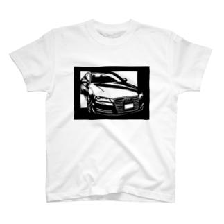 Audi A5切り絵デザイン T-shirts