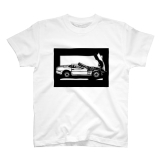 CHEVROLET コルベットC4切り絵デザイン T-shirts