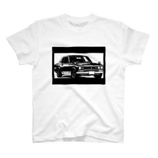 NISSAN スカイラインC10ハコスカ切り絵デザイン T-shirts