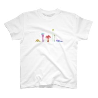 十姉妹のカラフルきのこ T-shirts