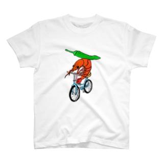 海老サイクリング青唐辛子添え T-shirts