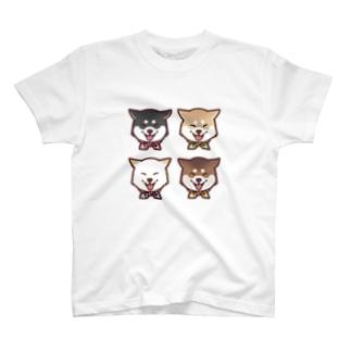 スマイル柴犬(スクエア) T-shirts