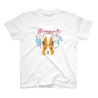ウサの耳にミュージック T-shirts
