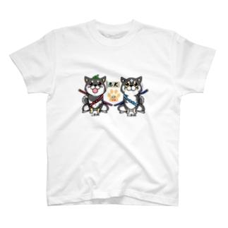 忍犬にまこま(背景透過Ver.) T-shirts