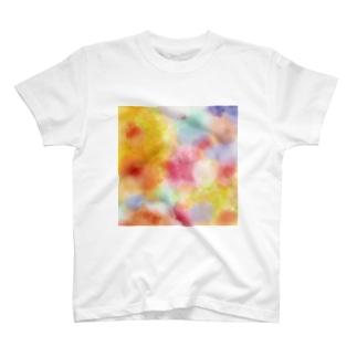 水彩混色「あたたかい」 T-shirts