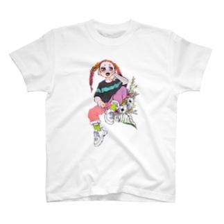 花にもたれる T-shirts