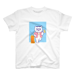 ハチワレねこ ごぶりん サングラス T-shirts