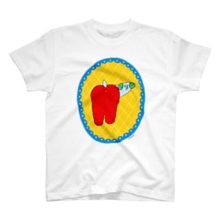 ふりむきわんちゃん T-shirts