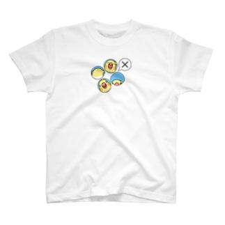オカメインコばつ×【まめるりはことり】 T-shirts