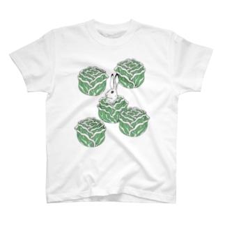 うさキャベツ Tシャツ T-shirts