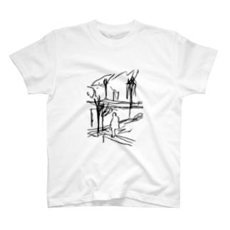 セーヌ川と俺やで T-shirts