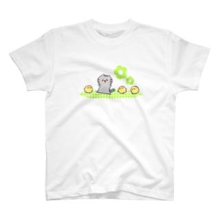 ゆるねこさんとひよこさん そのに。 T-shirts