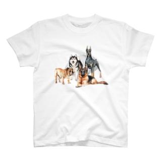 ちょっぴり強面の大きい犬たち。 T-Shirt