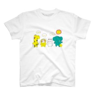 なまけものちゃんとおともだち T-shirts