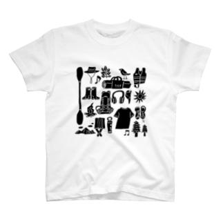キャンプ大好きじゃろ(大サイズ) T-shirts