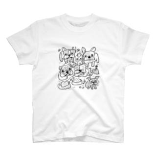 愛すべき鼻ぺちゃ犬 T-shirts