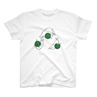 夏とスイカとアルパカと T-shirts