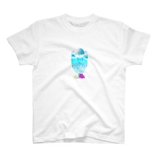 Yokokkoの店の海と空色のcream soda🍹 T-shirts