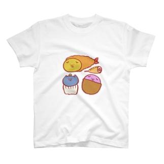 スコティッシュのフォーちゃん【色んな食べ物】 T-shirts