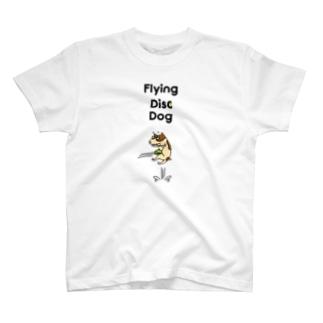 フライングディスクドッグ T-shirts