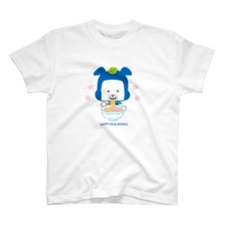 忍者犬たろうくん_ラーメン T-shirts