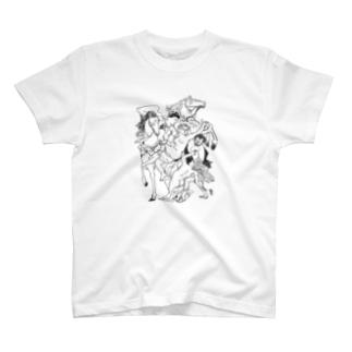 UNICA/ユニカのお嬢さん、でかけましょ。 T-shirts