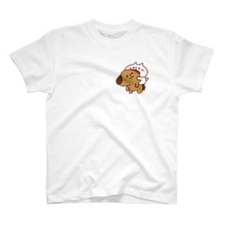 ぶーちゃんとこーすけん ぴた T-shirts